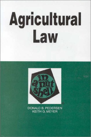 Agricultural Law in a Nutshell   1995 9780314064547 Front Cover