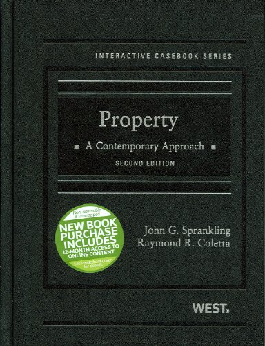 Property A Contemporary Approach 2nd 2012 (Revised) edition cover