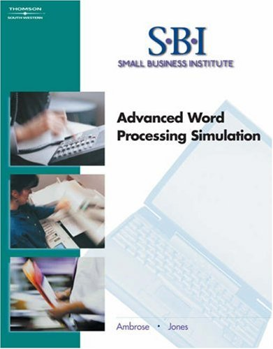 Sbi Advanced Word Processing Simulation 2nd 2005 9780538437547 Front Cover