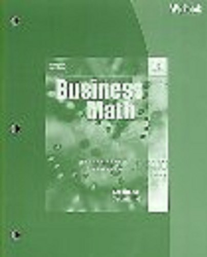 Business Math  16th 2006 (Workbook) 9780538440547 Front Cover