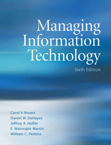 Managing Information Technology What Managers Need to Know 6th 2009 edition cover