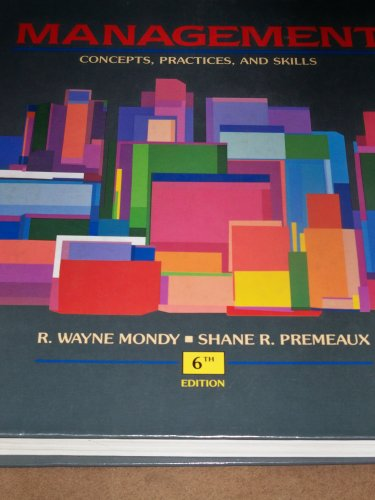 Management  6th 1993 edition cover