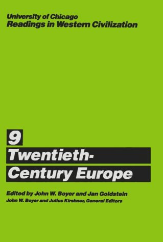 University of Chicago Readings in Western Civilization Twentieth-Century Europe  1987 (Reprint) edition cover