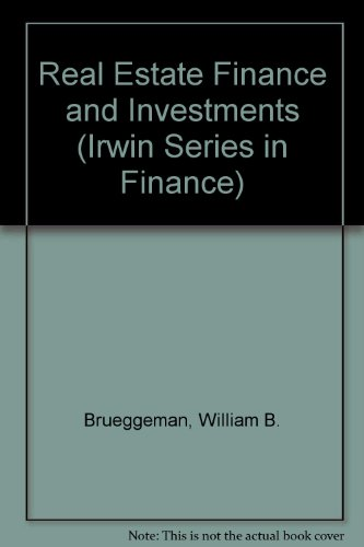 Real Estate Finance and Investments  10th 1997 edition cover