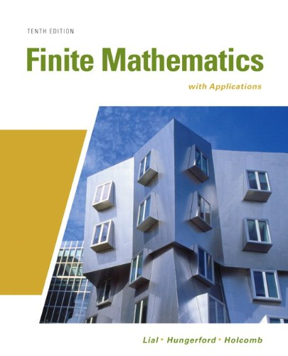 Finite Mathematics with Applications  10th 2011 edition cover