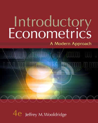 Introductory Econometrics A Modern Approach 4th 2009 edition cover