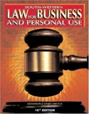 Law for Business and Personal Use  15th 2000 (Guide (Pupil's)) 9780538683548 Front Cover