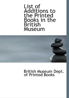 List of Additions to the Printed Books in the British Museum:   2008 edition cover