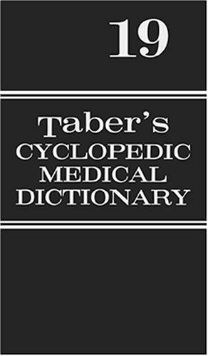 Taber's Cyclopedic Medical Dictionary Indexed 19th 2001 (Revised) edition cover