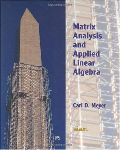 Matrix Analysis and Applied Linear Algebra   2000 edition cover