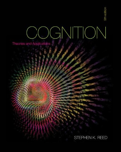 Cognition Theory and Applications 9th 2013 edition cover