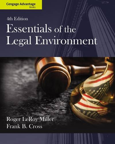 Essentials of the Legal Environment  4th 2014 edition cover