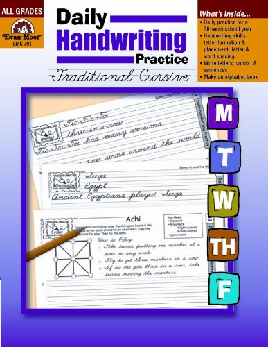 Daily Handwriting Practice Tradtional Cursive  Teachers Edition, Instructors Manual, etc. edition cover