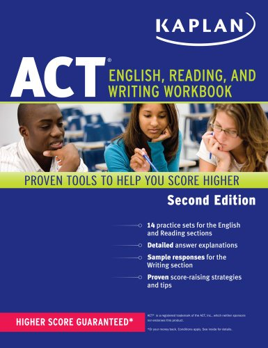 Kaplan ACT English, Reading, and Writing Workbook  2nd (Revised) 9781609780548 Front Cover