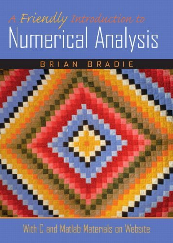 Friendly Introduction to Numerical Analysis   2006 edition cover