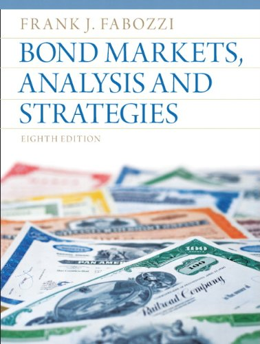 Bond Markets, Analysis and Strategies  8th 2013 (Revised) edition cover