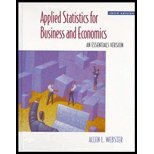 Applied Statistics for Business and Economics  3rd 1998 9780256225549 Front Cover