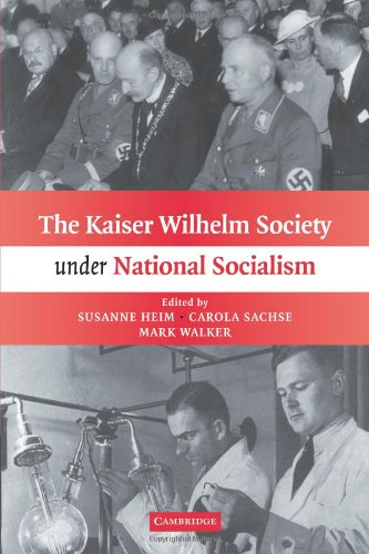 Kaiser Wilhelm Society under National Socialism   2010 9780521181549 Front Cover