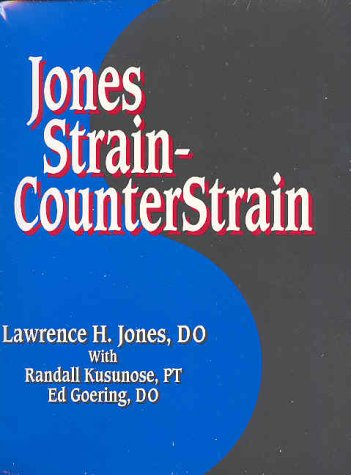 Jones Strain-Counterstrain 1st 9780964513549 Front Cover