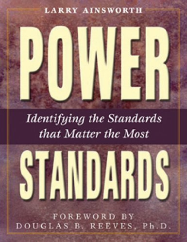 Power Standards Identifying the Standards That Matter the Most  2003 (Student Manual, Study Guide, etc.) edition cover