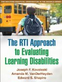 RTI Approach to Evaluating Learning Disabilities   2013 9781462511549 Front Cover