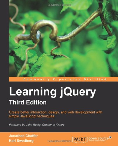 Learning jQuery  3rd 2011 edition cover