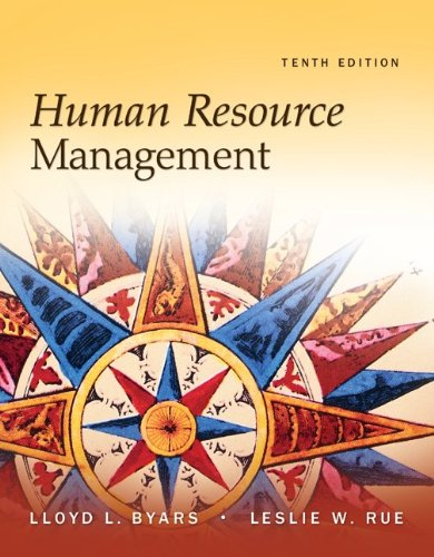 Human Resource Management  10th 2011 edition cover