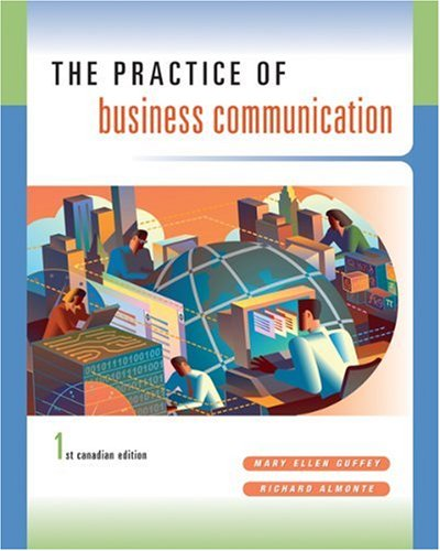 PRACTICE OF BUSINESS COMMUNICA 1st edition cover