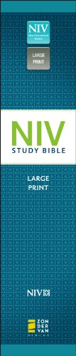 NIV Study Bible   2011 (Large Type) edition cover
