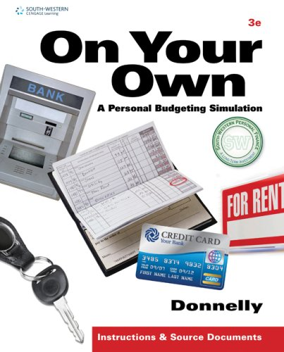 On Your Own A Personal Budgeting Simulation 3rd 2010 9780538448550 Front Cover