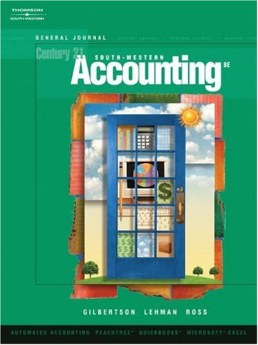 Century 21 Accounting  8th 2006 (Revised) 9780538972550 Front Cover