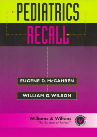Pediatrics Recall   1996 9780683058550 Front Cover