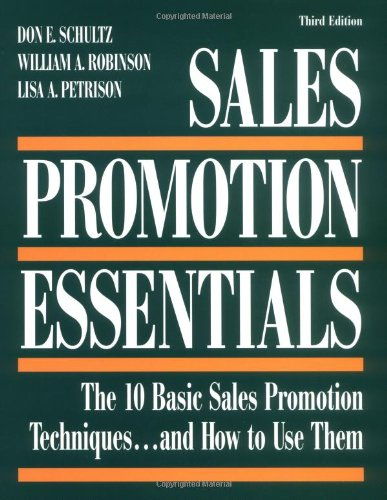 Sales Promotion Essentials The 10 Basic Sales Promotion Techniques... and How to Use Them 3rd 1998 (Revised) edition cover