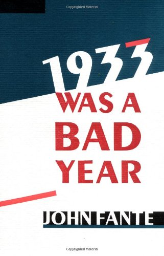 1933 Was a Bad Year  Reprint edition cover
