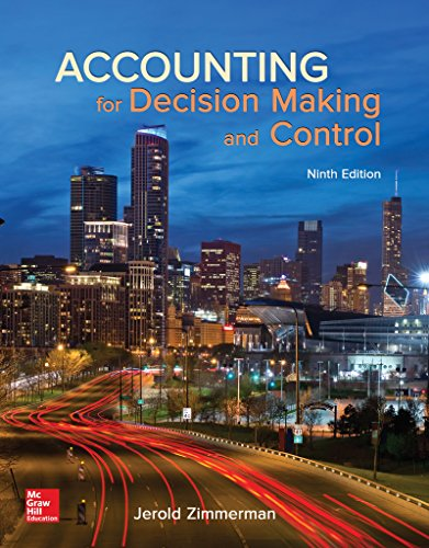 Accounting for Decision Making and Control:   2016 9781259564550 Front Cover