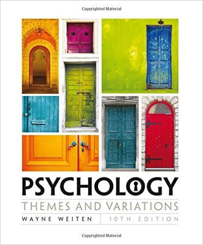 Psychology: Themes & Variations  2016 9781305630550 Front Cover