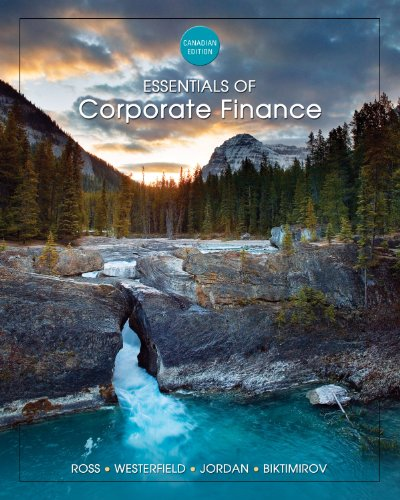ESSENTIAL OF CORP.FINANCE >CANADIAN< 1st edition cover