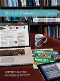 Math for Business and Finance: an Algebraic Approach 1e   2014 edition cover