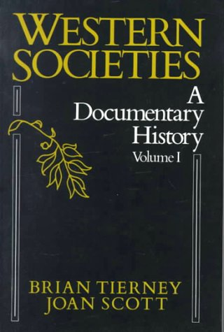Western Societies A Documentary History  1988 9780075542551 Front Cover