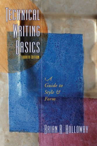 Technical Writing Basics A Guide to Style and Form 4th 2008 edition cover