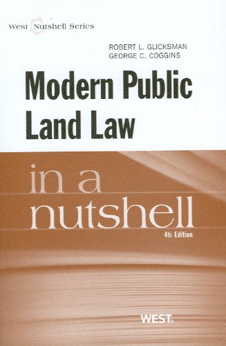 Modern Public Land Law in a Nutshell  4th (Revised) edition cover