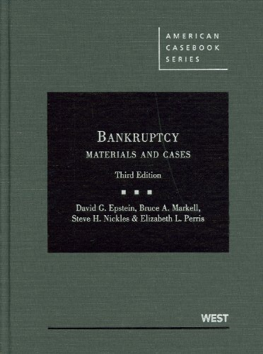 Bankruptcy Materials and Cases 3rd 2010 (Revised) edition cover