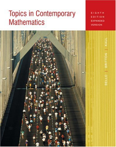 Topics in Contemporary Mathematics  8th 2005 (Expanded) edition cover