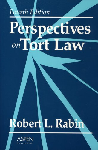 Perspectives on Tort Law  4th 1995 (Revised) 9780735518551 Front Cover