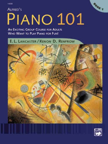 Alfred's Piano 101, Bk 1 An Exciting Group Course for Adults Who Want to Play Piano for Fun!  1999 edition cover