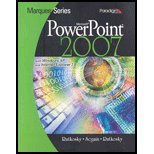 MICROSOFT POWERPOINT 2007,XP+I N/A 9780763829551 Front Cover