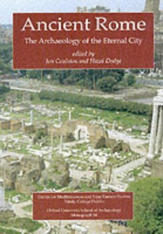 Ancient Rome The Archaeology of the Eternal City  2000 edition cover