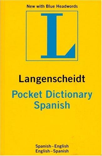 Pocket Spanish Dictionary Spanish-English English-Spanish  2001 edition cover