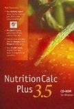 NutritionCalc Plus 3. 5 CD-ROM Myplate Version  9th 2013 edition cover