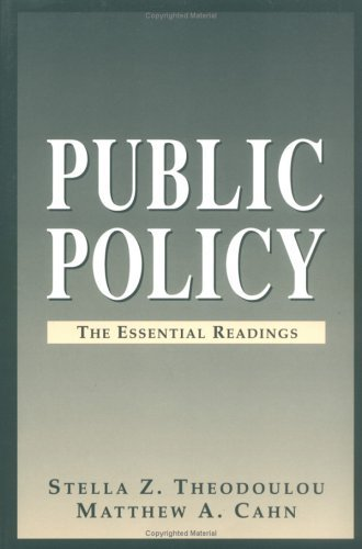Public Policy The Essential Readings  1995 edition cover